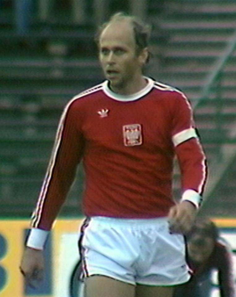 Grzegorz Lato podczas meczu Polska - Rumunia 3:0 (29.08.1979).