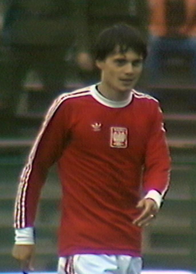 Stanisław Terlecki podczas meczu Polska - Rumunia 3:0 (29.08.1979).