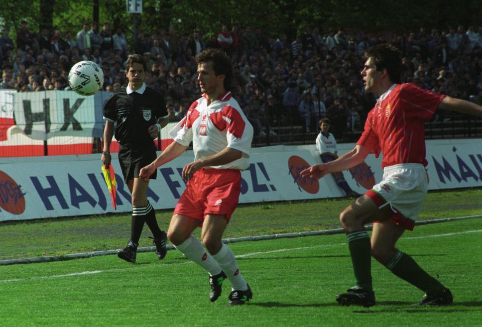 Dla Romana Dąbrowskiego mecz z Węgrami w 1994 roku był ostatnim występem w reprezentacji Polski na długie lata.