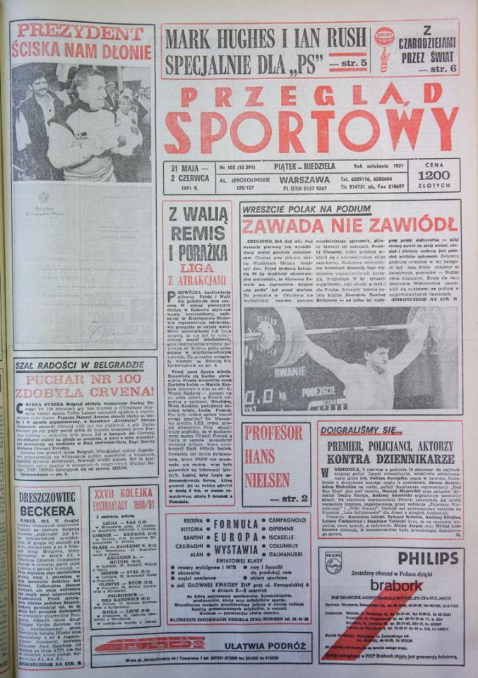 Przegląd o meczu Polska - Walia 0:0 (29.05.1991)