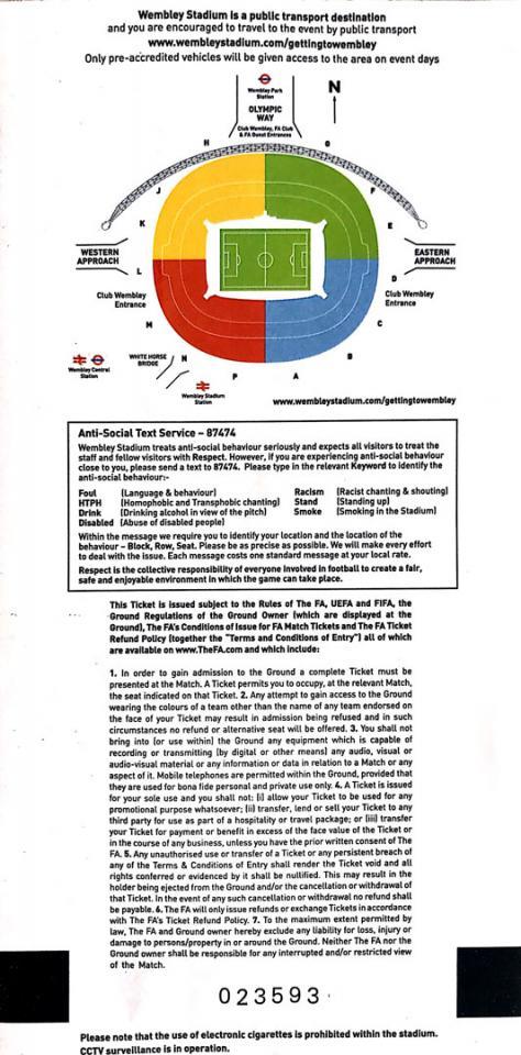 Bilet z meczu Anglia - Polska (15.10.2013)
