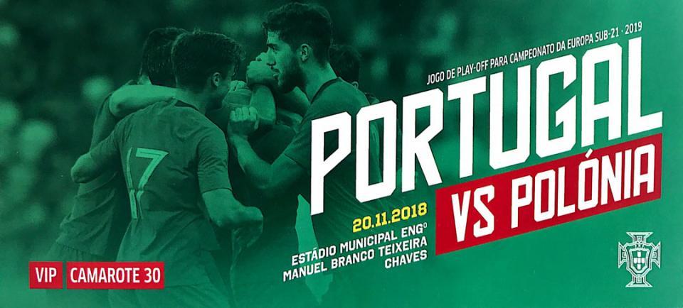 Bilet z meczu Portugalia - Polska (20.11.2018)