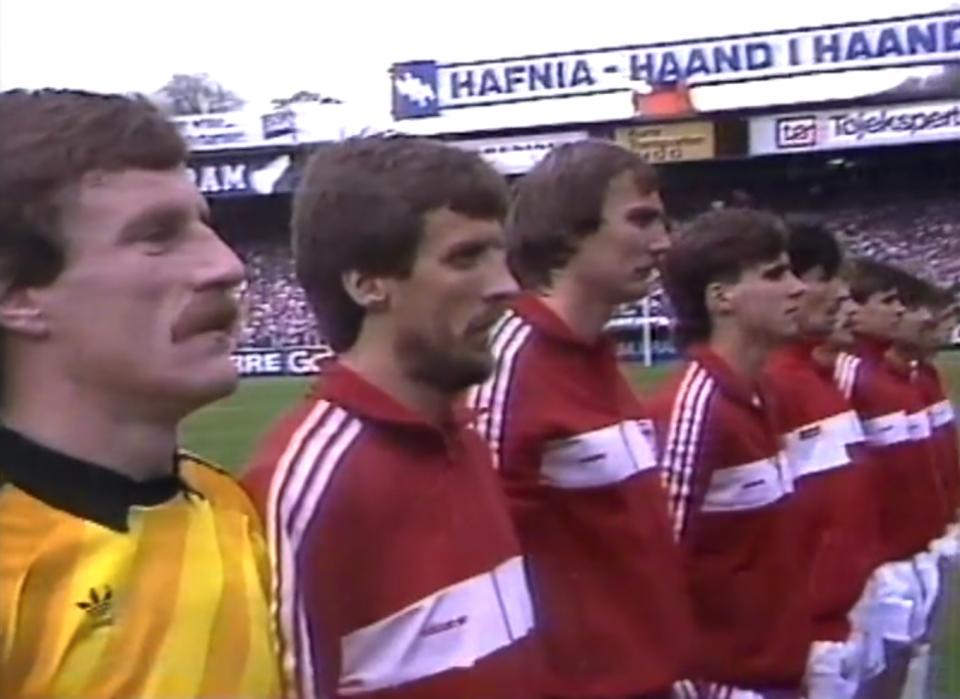 Reprezentacja Polski przed meczem z Danią w Kopenhadze.