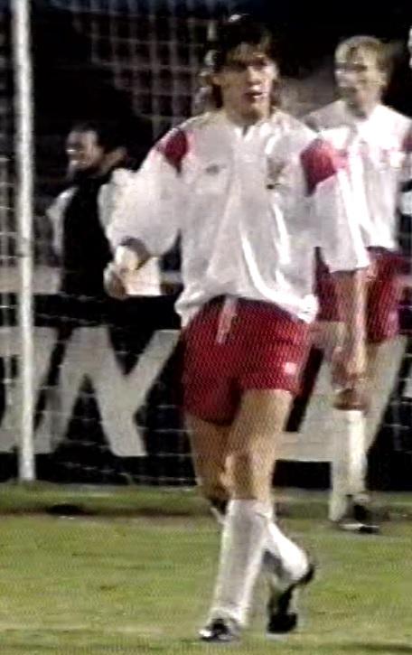 Andrzej Kobylański podczas meczu Izrael - Polska (03.02.1993).