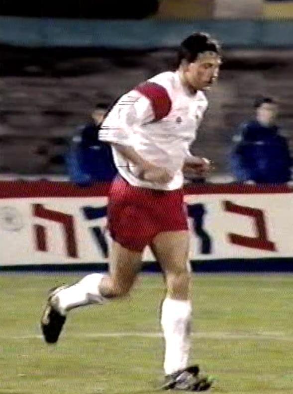 Wojciech Kowalczyk podczas meczu Izrael - Polska (03.02.1993).