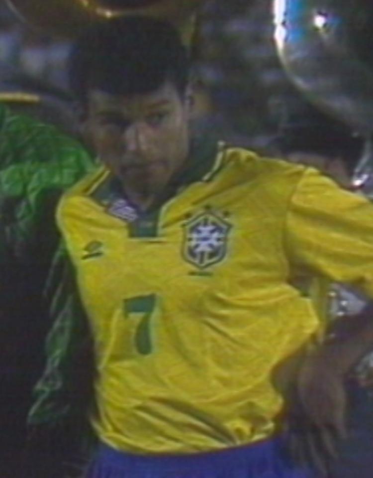 Müller podczas meczu Brazylia - Polska 2:2 (17.03.1993).