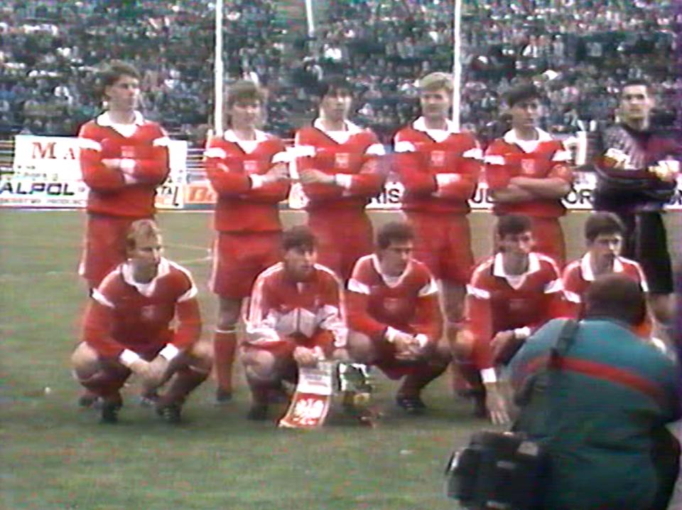 Reprezentacja Polski do lat 21 przed meczem z rówieśnikami z Anglii w Pile.