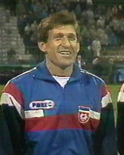 Safet Sušić podczas meczu Polska - Jugosławia 0:0 (28.03.1990).