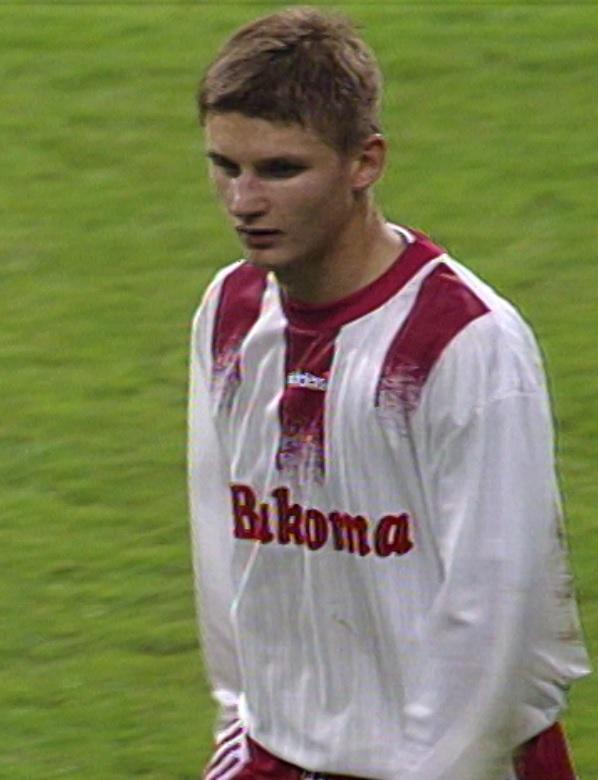 Marek Citko podczas meczu Borussia Dortmund - Widzew Łódź 2:1 (11.09.1996) .