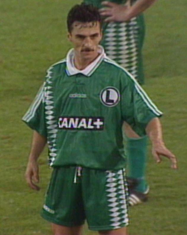 Leszek Pisz podczas meczu IFK Göteborg - Legia Warszawa 1:2 (23.08.1995).