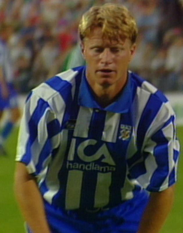 Stefan Petterson podczas meczu Legia Warszawa - IFK Göteborg 1:0 (09.08.1995).