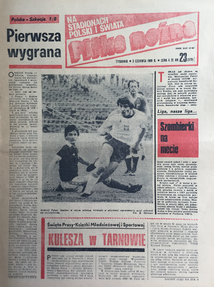 Okładka piłki nożnej po meczu Polska - Szkocja (28.05.1980)