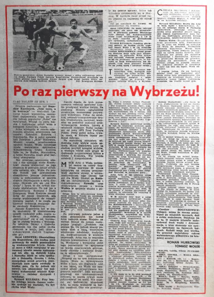 Arka Gdynia - Wisła Kraków 2:1, 09.05.1979