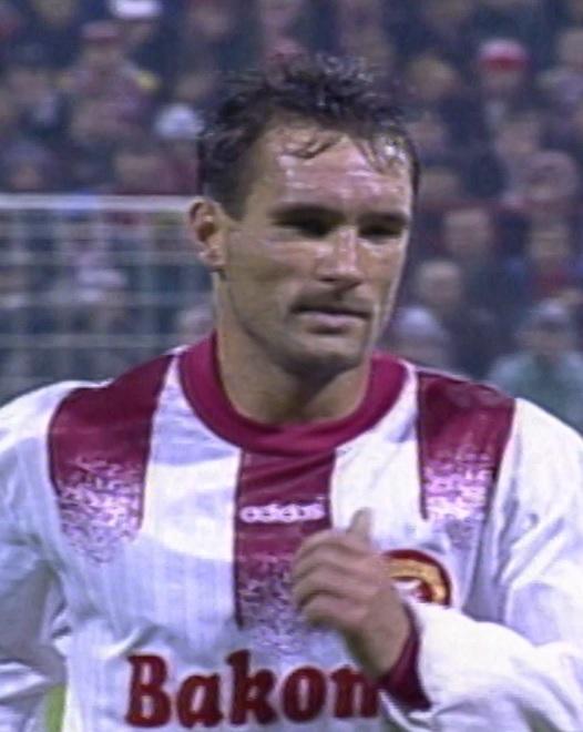 Zbigniew Wyciszkiewicz podczas meczu Widzew Łódź - Atlético Madryt 1:4 (25.09.1996).