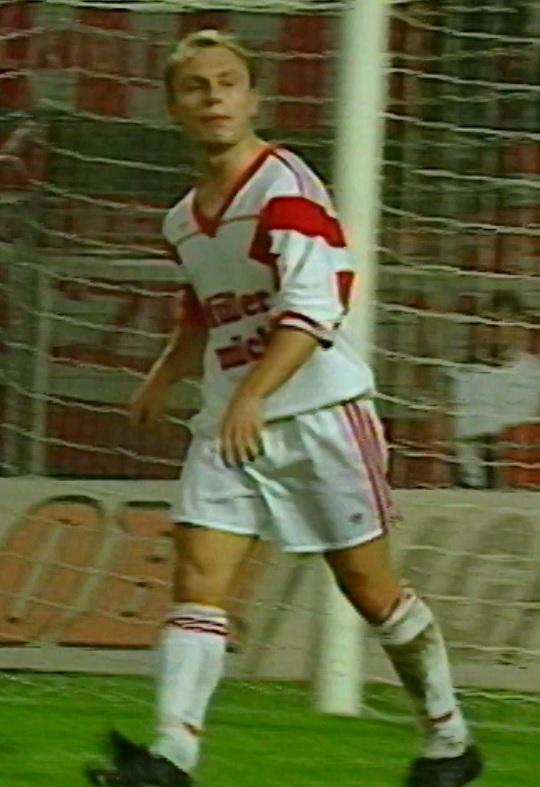 Bogdan Jóźwiak podczas meczu Eintracht Frankfurt - Widzew Łódź 9:0 (30.09.1992).