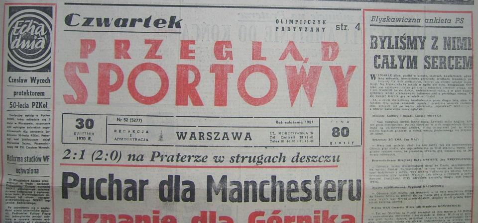 Przeglad Sportowy po meczu MC - Górnik (29.04.1970)