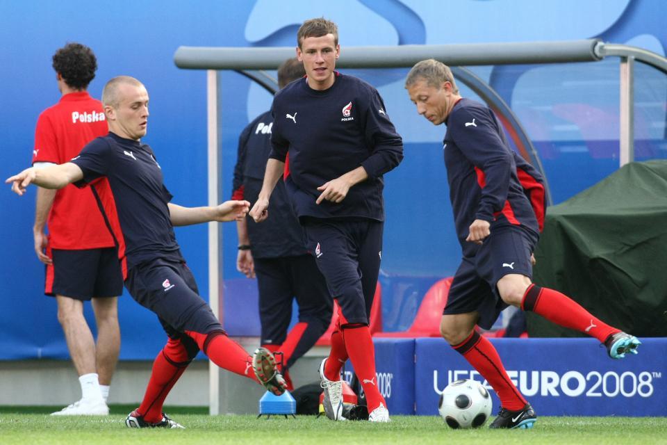 Michał Pazdan podczas rozgrzewki na Euro 2008.