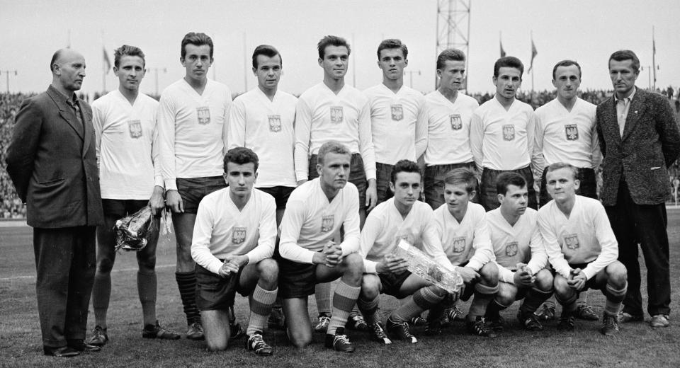 Reprezentacja Polski juniorów, której trzon stanowili zawodnicy uczniowskiego klubu Zryw Chorzów.