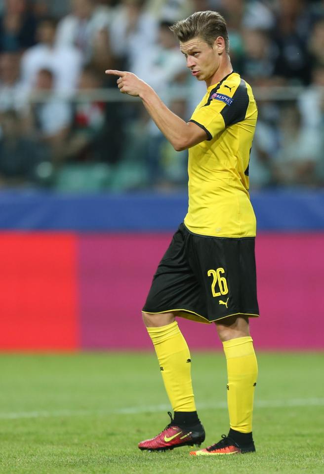 Łukasz Piszczek podczas meczu Legia Warszawa - Borussia Dortmund 0:6 (14.09.2016)