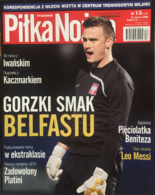okładka piłki nożnej po meczu irlandia płn. - polska (28.03.2009)