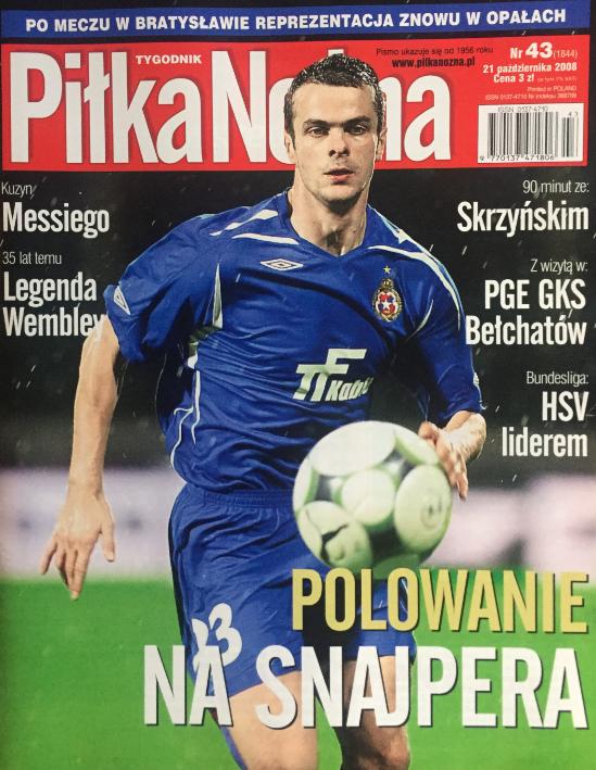 okładka piłki nożnej po meczu słowacja - polska (15.10.2008)
