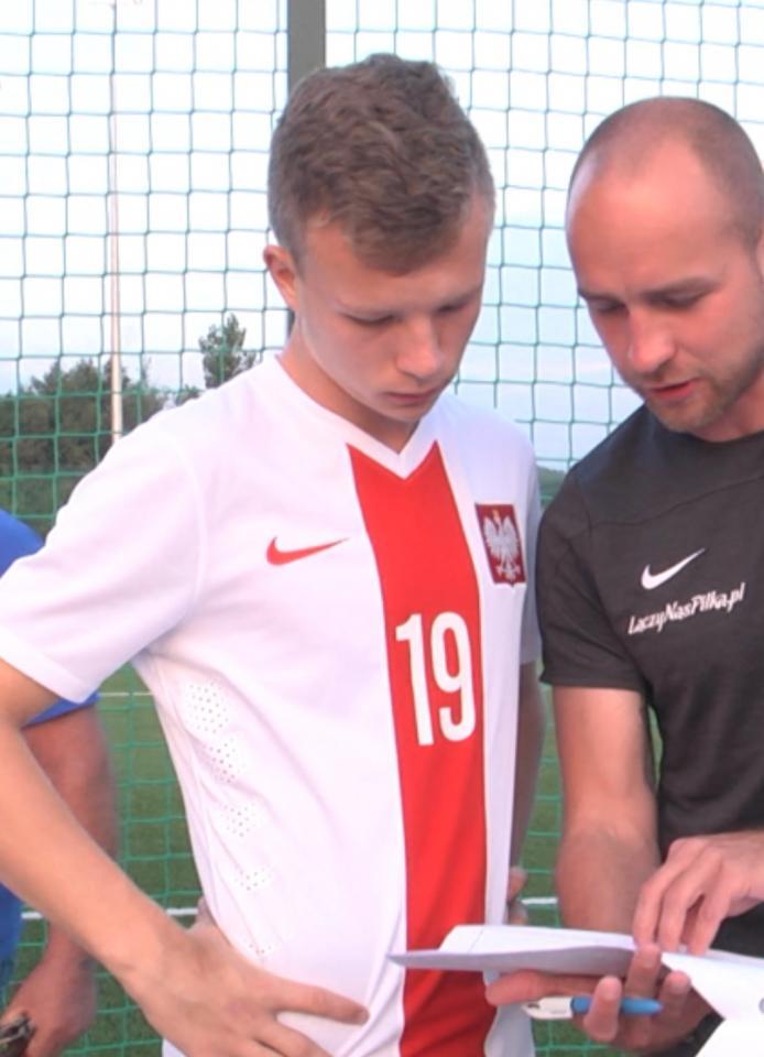 Daniel Dudziński podczas meczu Polska - Estonia 2:0 U-17 (07.09.2018).a