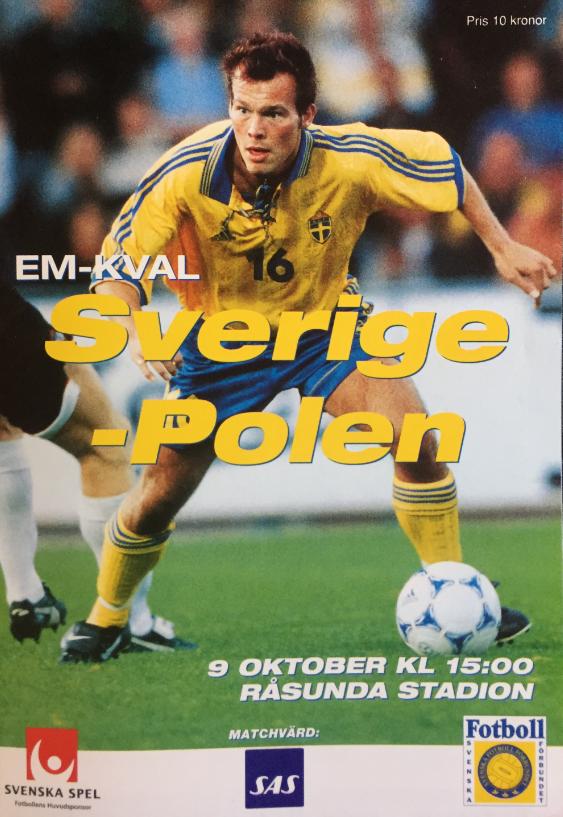 program z meczu szwecja - polska (9.10.1999)
