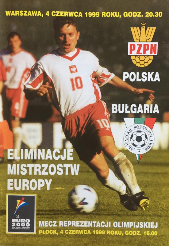 Program z meczu polska - bułgaria (04.06.1999)