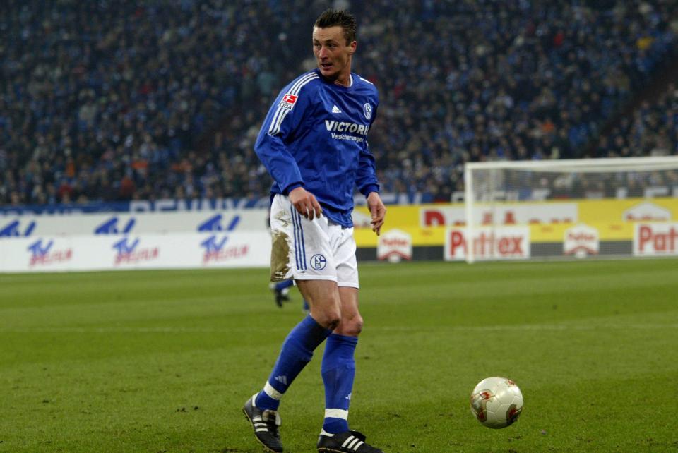 Tomasz Hajto w barwach Schalke 04.
