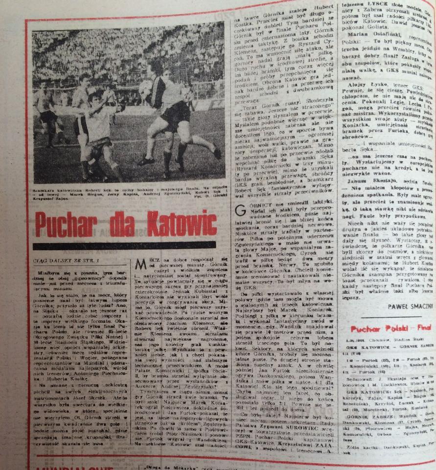 Piłka Nożna po Katowice - Górnik Z. (01.05.1986) 2