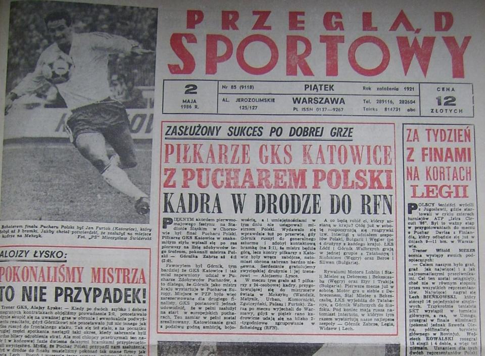 Przegląd Sportowy po Katowice - Górnik Z. (01.05.1986) 1
