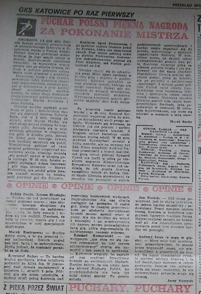 Przegląd Sportowy po Katowice - Górnik Z. (01.05.1986) 2