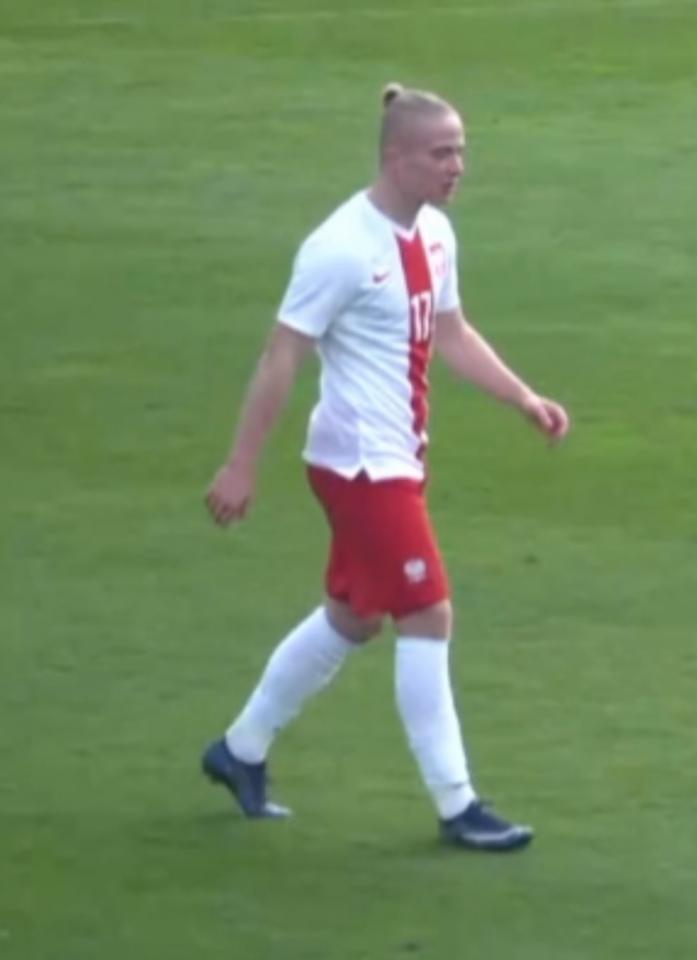 Mariusz Fornalczyk podczas meczu Polska - Norwegia 2:2 U-17 (08.02.2020)