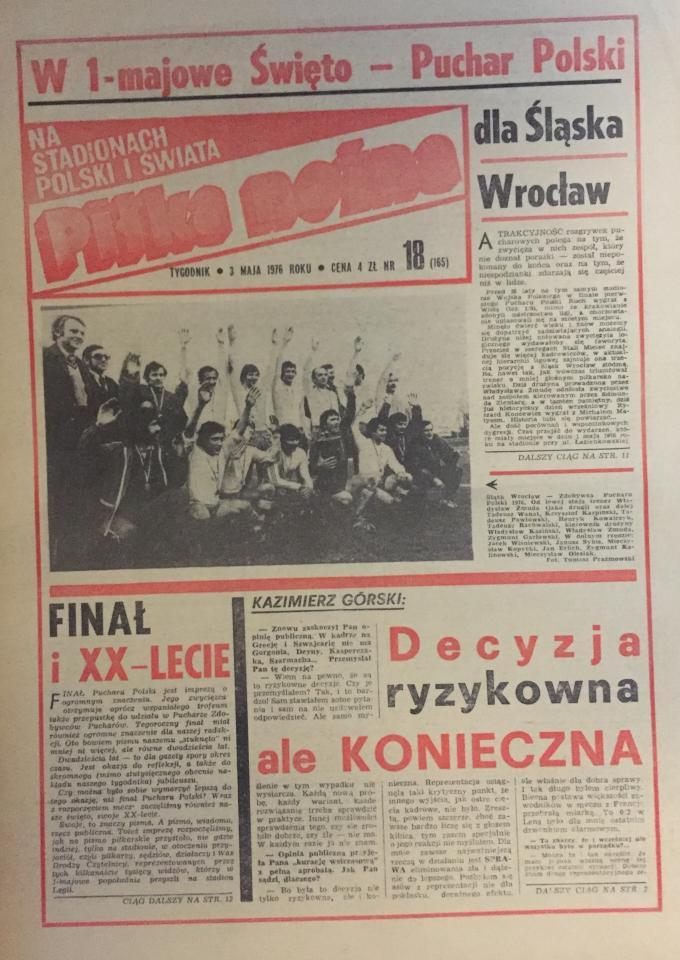 Piłka Nożna po Śląsk - Stal M. 2:0 (01.05.1976) 1