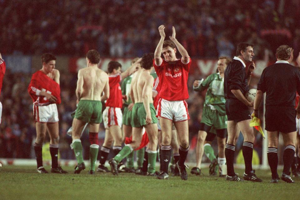 Steve Bruce po meczu Manchester United - Legia Warszawa 1:1 (24.04.1991).