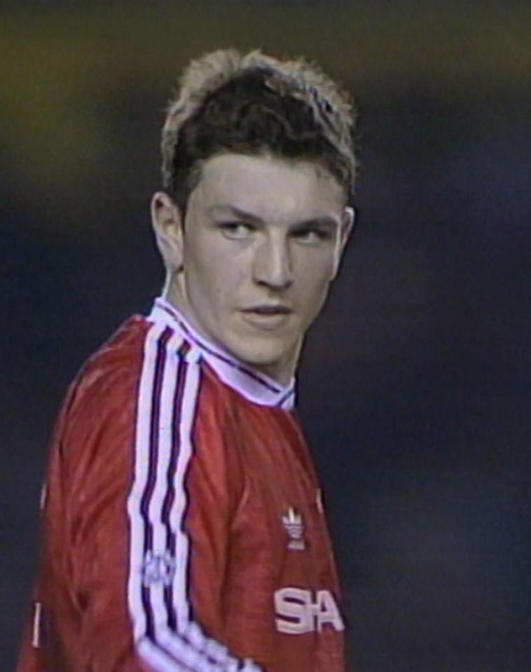 Lee Sharpe podczas meczu Manchester United - Legia Warszawa 1:1 (24.04.1991).
