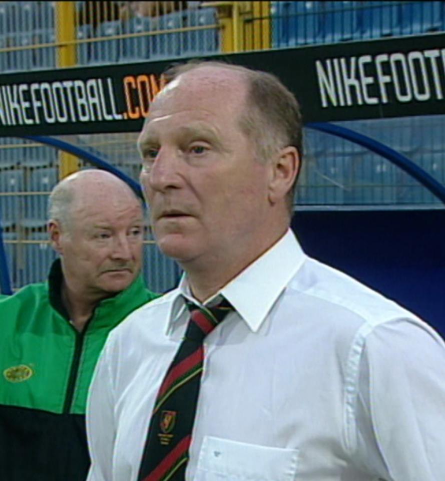 Roy Coyle podczas meczu Wisła Kraków - Glentoran FC 4:0 (29.08.2002)