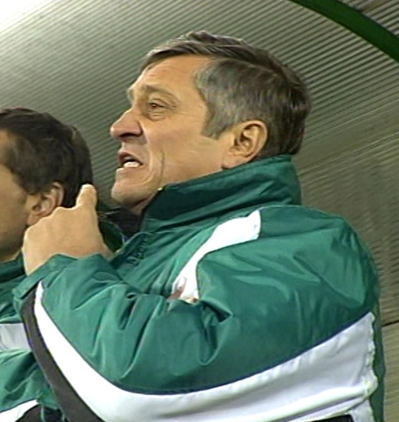 Dušan Radolský podczas meczu Girondins Bordeaux - Groclin Dyskobolia Grodzisk Wielkopolski 4:1 (03.03.2004).