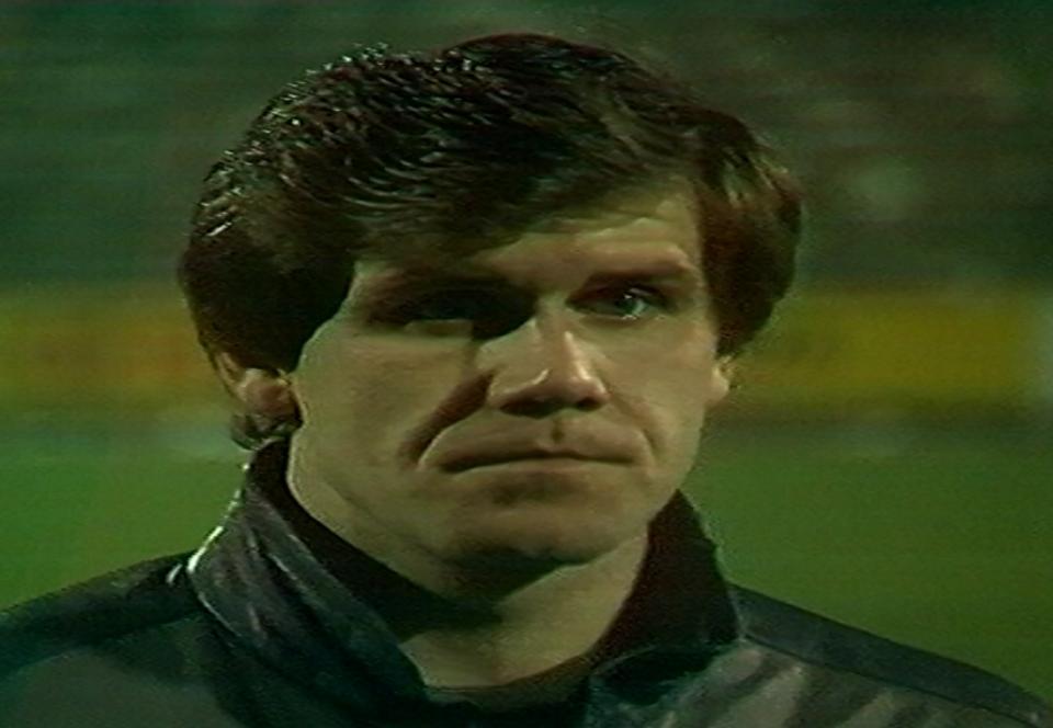 Włodzimierz Smolarek po meczu Widzew Łódź – Borussia Mönchengladbach 1:0 (07.11.1984)