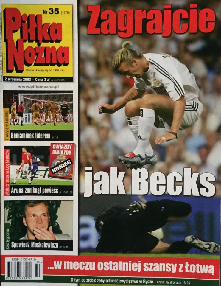 Piłka Nożna po meczu Wisła Kraków – Anderlecht 0:1 (26.08.2003)