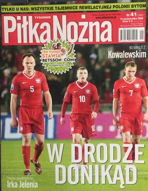Okładka piłki nożnej po meczu czechy - polska (10.10.2009)