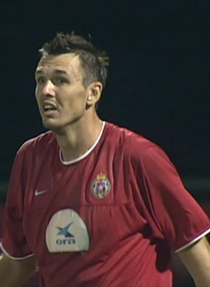 Jacek Paszulewicz (Wisła Kraków 2003).