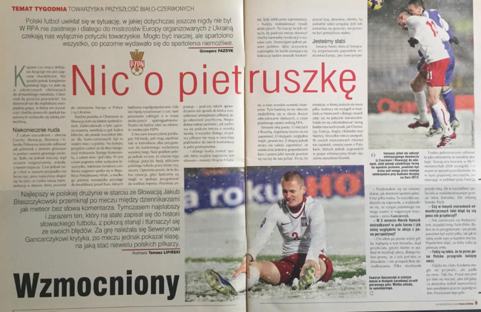 piłka nożna po meczu polska – słowacja (14.10.2009)