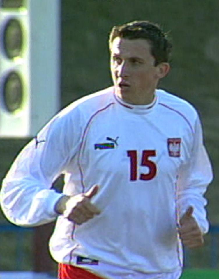 Michał Goliński podczas meczu Polska - San Marino 7:0 U-21 (01.04.2003)