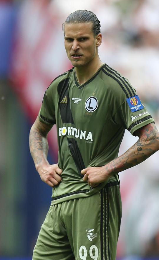 Aleksandar Prijović (Lech Poznań - Legia Warszawa 0:1, 02.05.2016)