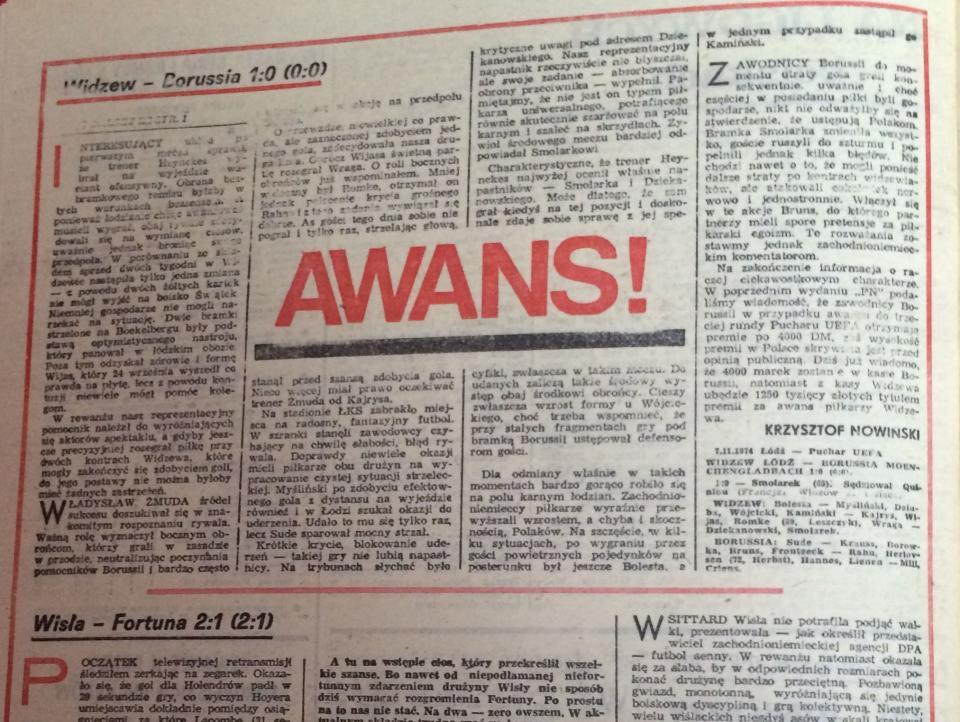 Widzew Łódź - Borussia Mönchengladbach 1:0 (07.11.1984) Piłka Nożna
