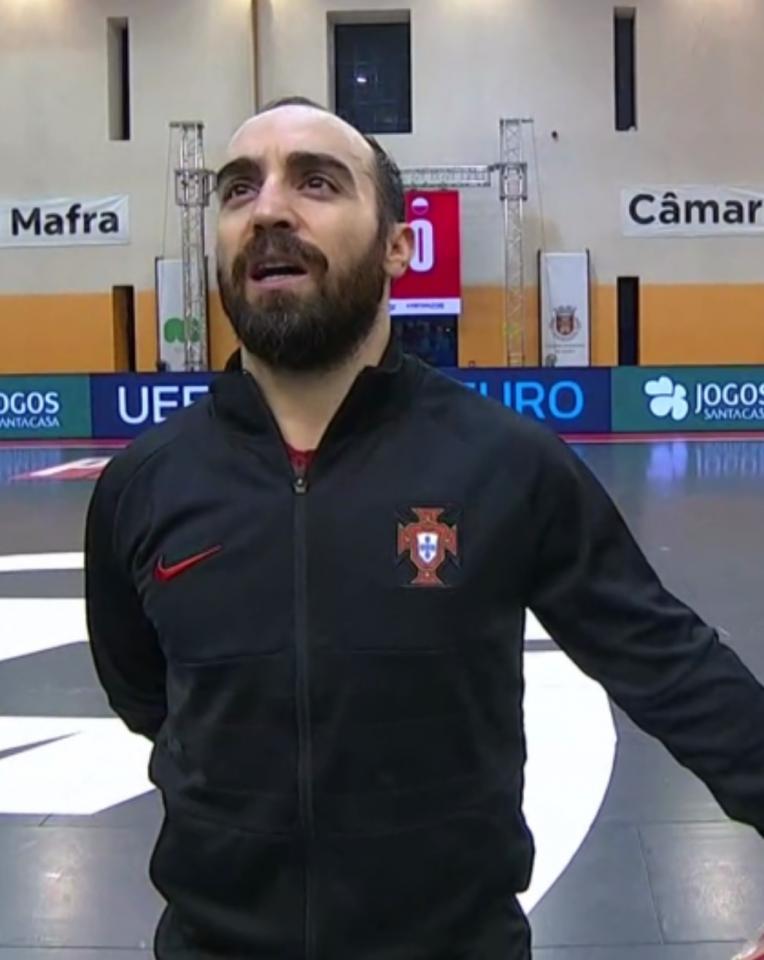 Ricardinho podczas meczu Portugalia – Polska 2:2 futsal (29.01.2021)