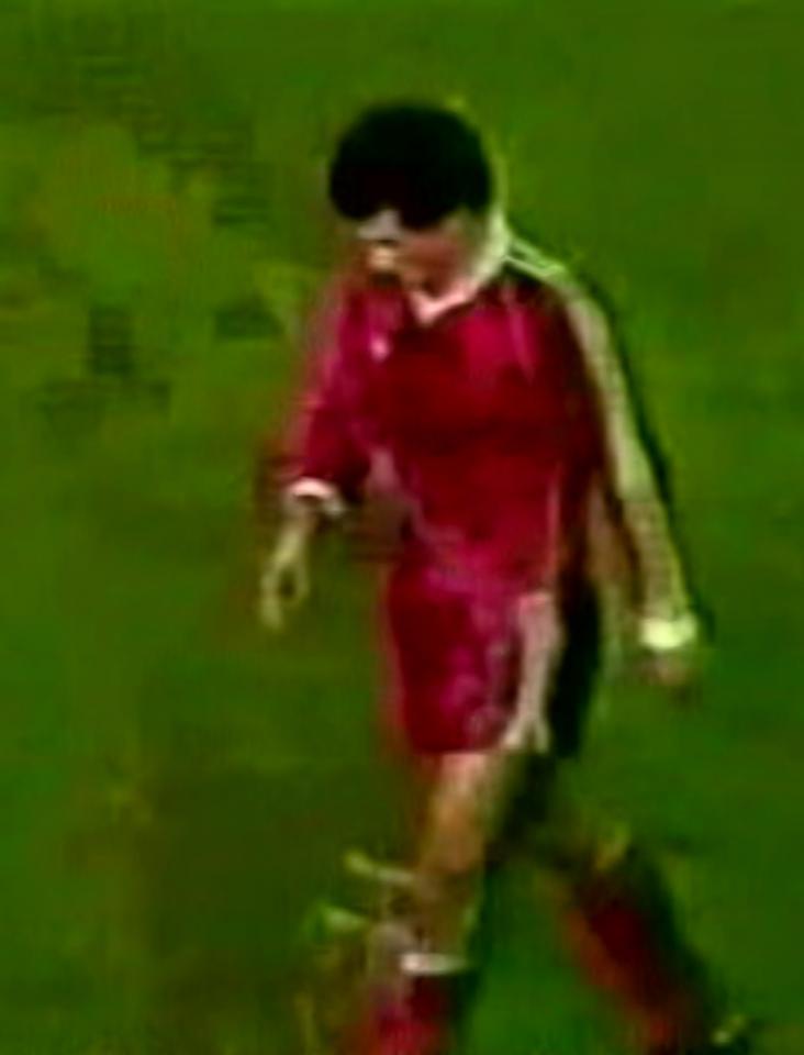 Mirosław Myśliński podczas meczu Borussia Mönchengladbach – Widzew Łódź 3:2 (24.10.1984)