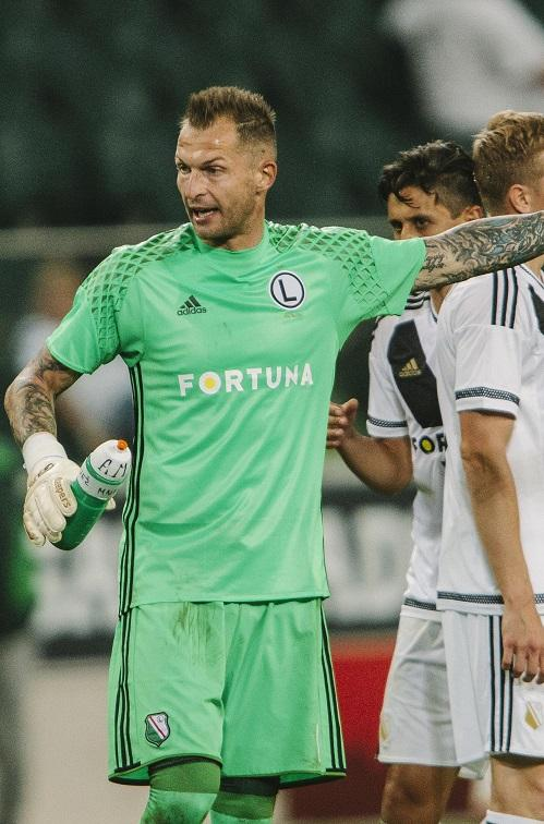 Arkadiusz Malarz (Legia Warszawa – Zrinjski Mostar 2:0, 19.07.2016)