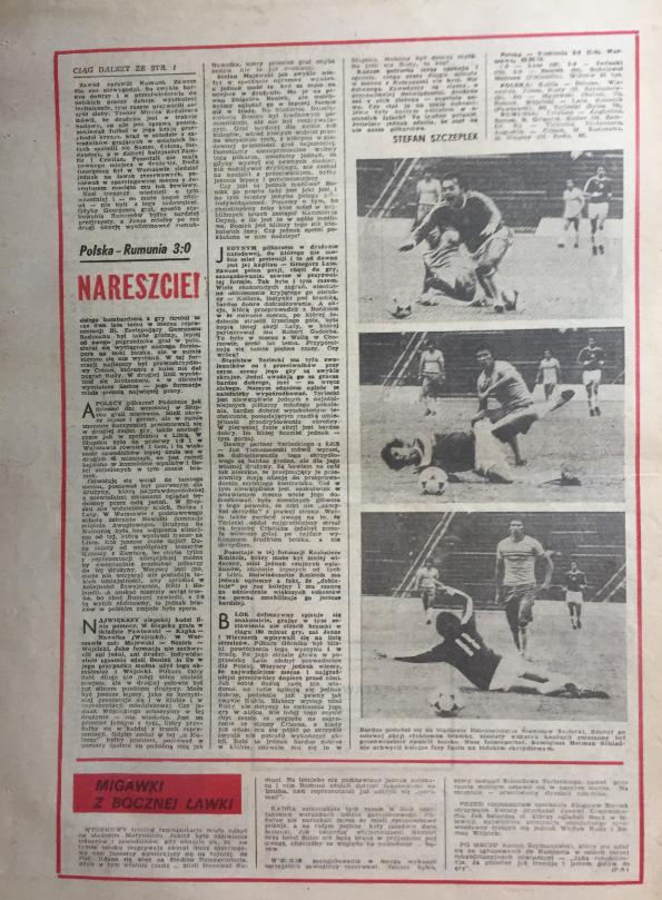 piłka nożna po meczu polska – rumunia (29.08.1979)